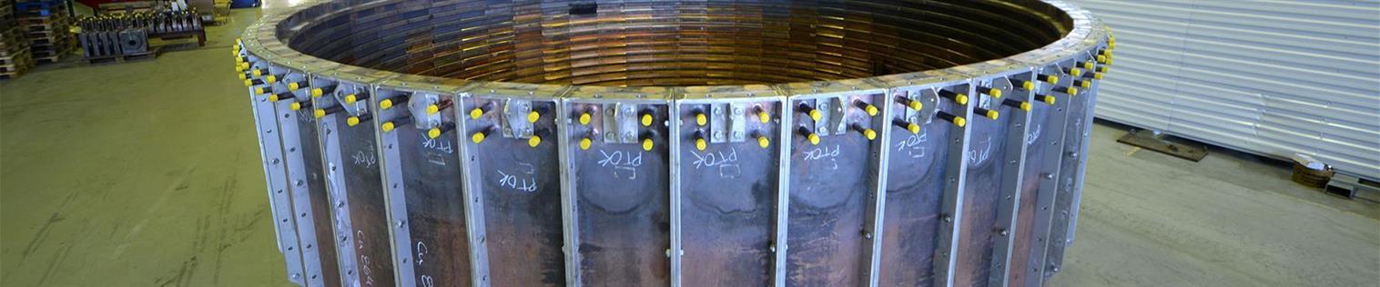 圆形试验组件中的冷却元件