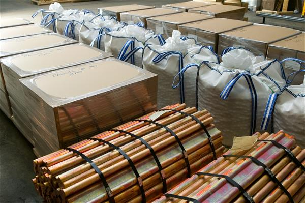 Packing alternatives for anodes: carton boxes on pallets, profiles in bundles, big bags