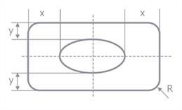 矩形_楕円孔